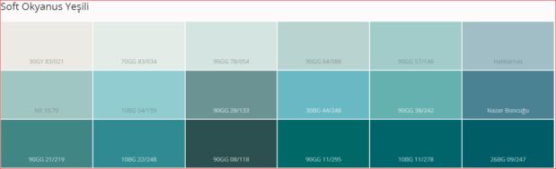 Marshall Iç Cephe Renk Kartelası 2018 0555 399 96 13